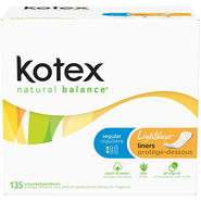 Kotex Natural Balance Lightdays Liners at Kmart.com