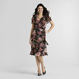 JBS Women's Plus Chiffon Dress - Floral at Sears.com