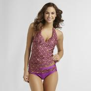 Jaclyn Smith Women's Halter Tankini - Logo Print at Kmart.com