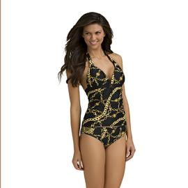 Kardashian Kollection Women's Halter Tankini Top - Jewelry Print at Sears.com