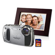 Waterproof Digital Camera with Memory Card & Digital Picture Frame Bundle at Kmart.com
