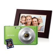 Sony DSC Cyber Shot Digital Camera with Memory Card & Digital Picture Frame Bundle at Kmart.com