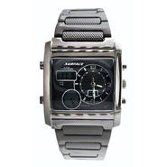 Surface Mens' Chronograph Tank Gunmetal Watch with Square Multi Dials at Kmart.com