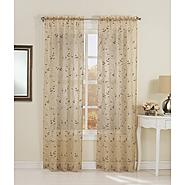 "Essential Home Alex Scroll Voile Window Panel  50""x84"" at Kmart.com"