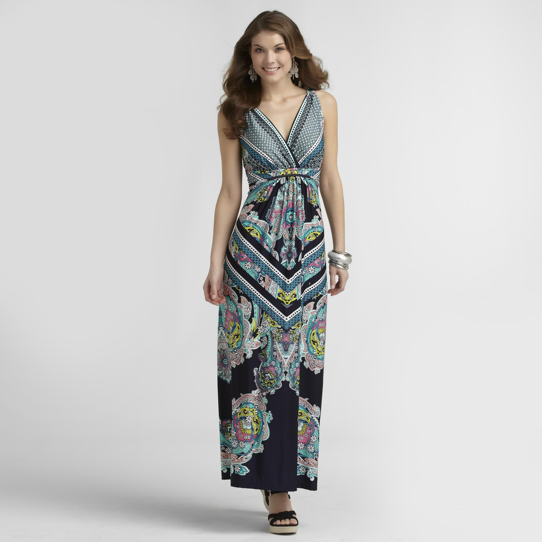 Metaphor Women's Maxi Dress - Ink Print at Sears.com