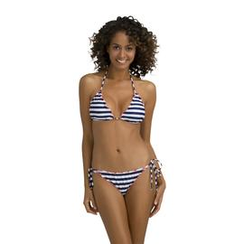 Kardashian Kollection Women's String Bikini Top - Nautical Stripes at Sears.com
