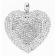 2CTTW Diamond Heart Pendant Rhodium over Brass with a 24in Chain at Sears.com