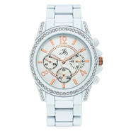 Jaclyn Smith Ladies' White Bracelet Watch with Rose-Gold Markers and White Multi-Dials at Sears.com