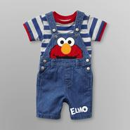 Sesame Street Elmo Infant Boy's Overalls Short Set at Kmart.com
