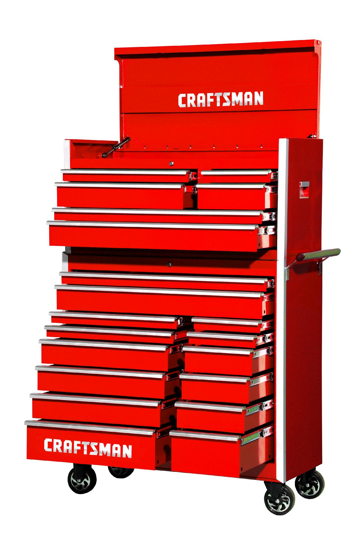 -Craftsman 42-Inch 20-Drawer Vintage Tool Storage Combo  Red