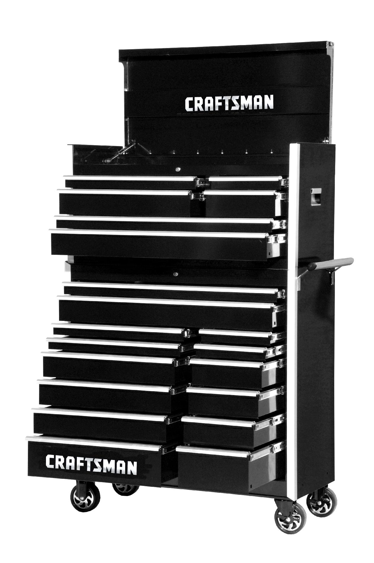 -Craftsman 42-Inch 20-Drawer Vintage Tool Storage Combo  Black