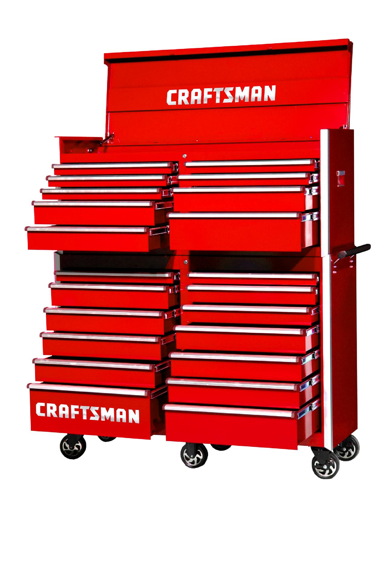 -Craftsman 54-Inch 22-Drawer Vintage Tool Storage Combo  Red