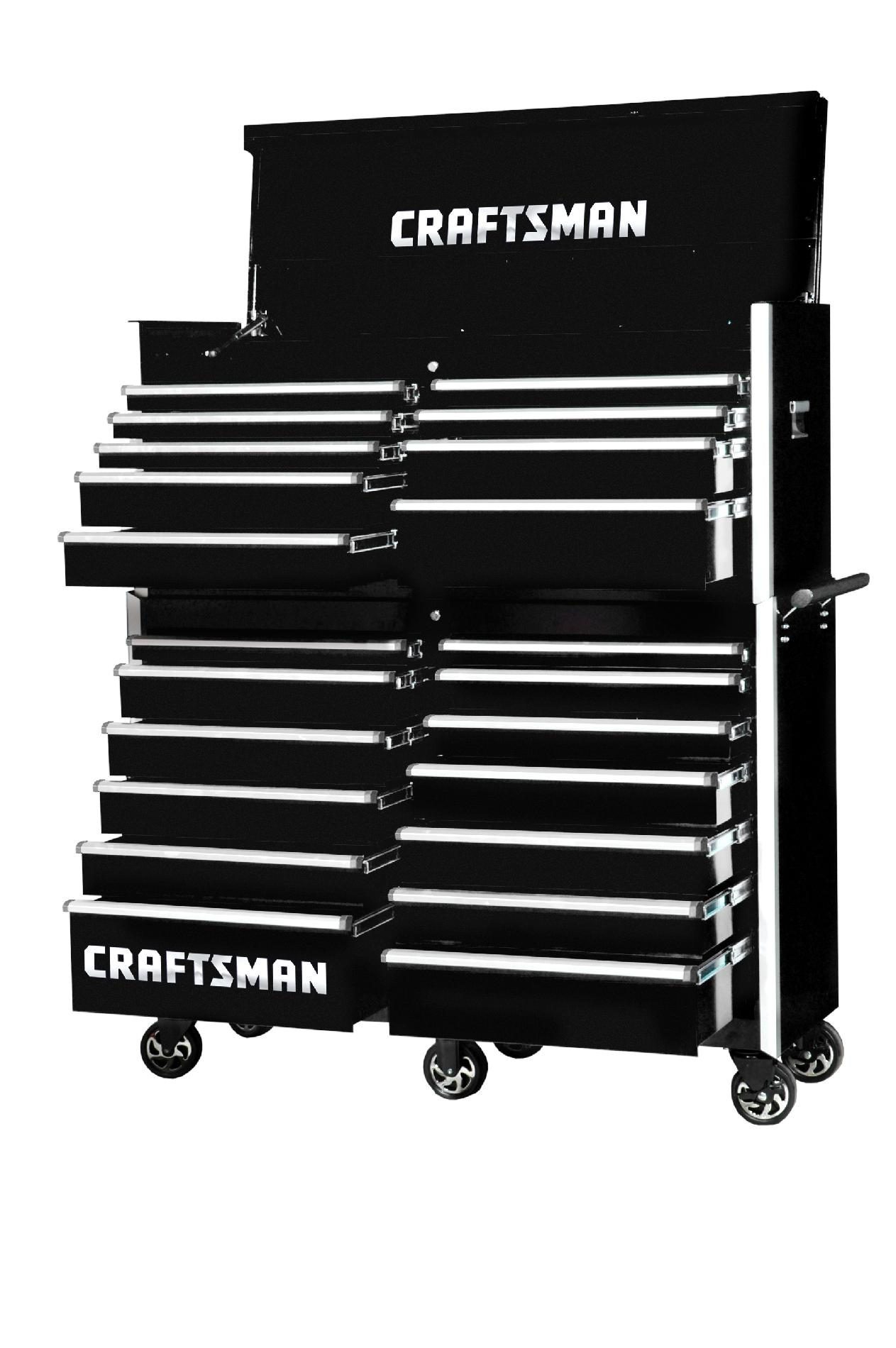 -Craftsman 54-Inch 22-Drawer Vintage Tool Storage Combo  Black