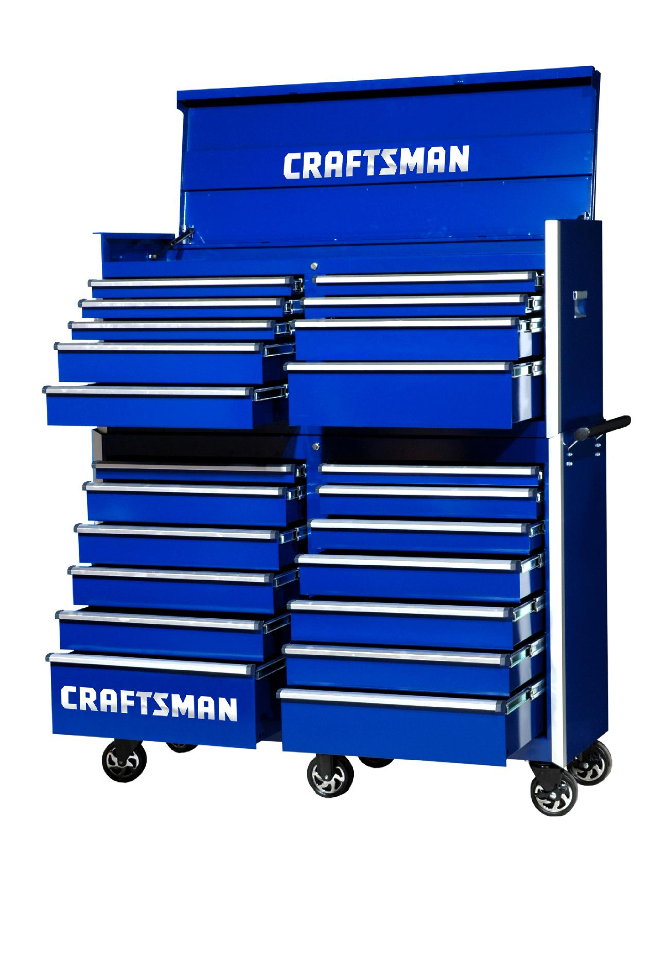 -Craftsman 54-Inch 22-Drawer Vintage Tool Storage Combo  Blue