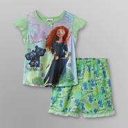 Disney Baby Brave Infant & Toddler Girl's Shorty Pajamas - Merida at Kmart.com