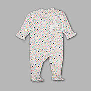 Small Wonders Newborn Girl's Asymmetrical Ruffled Sleeper – Hearts at Kmart.com