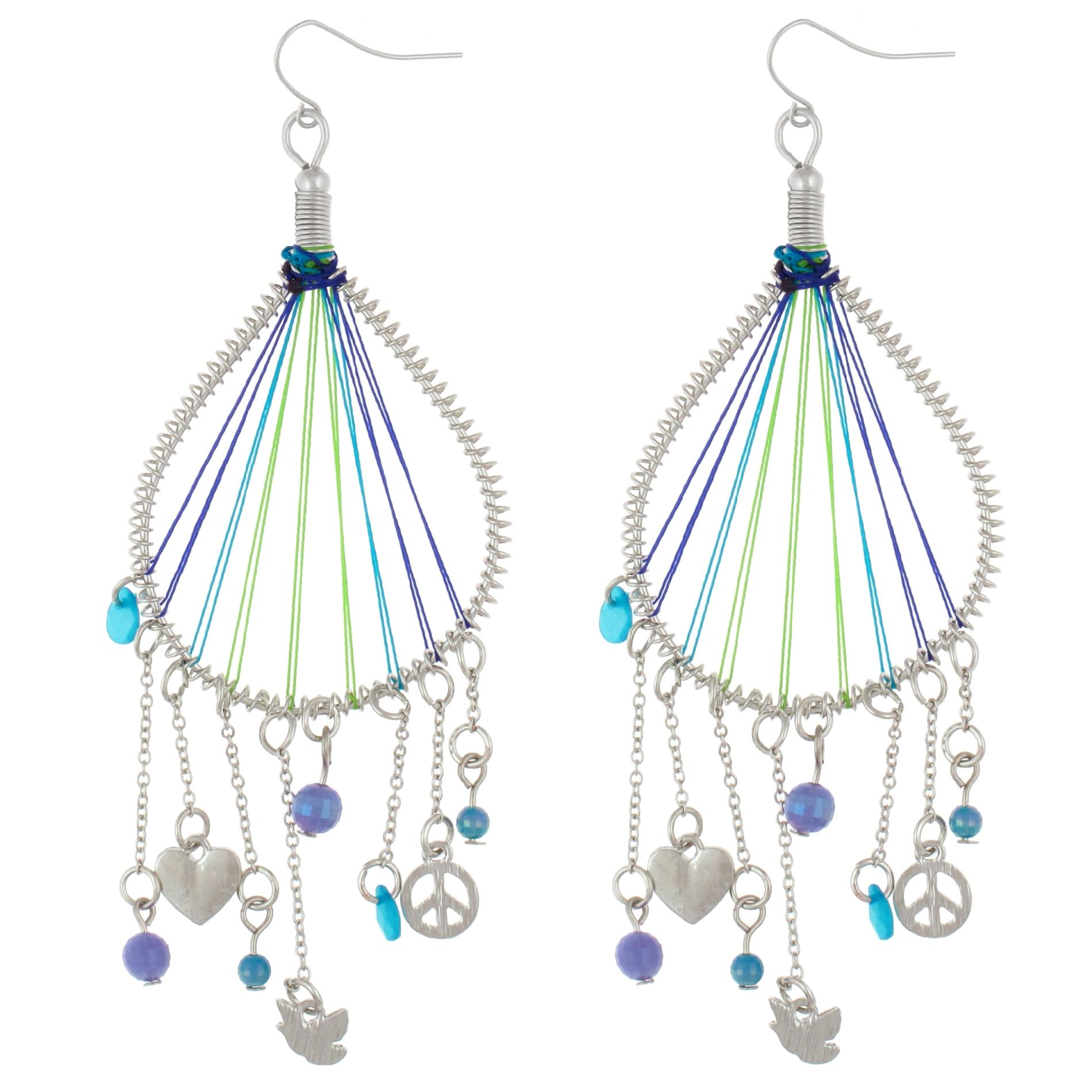 Dream Out Loud by Selena Gomez Juniors' Ombre Thread Charm Drop Earrings