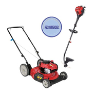 Craftsman 140cc Push Mower with Gas Line Trimmer Bund...