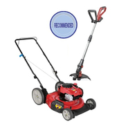 Craftsman 140cc Push Mower with Cordless Line Trimmer...