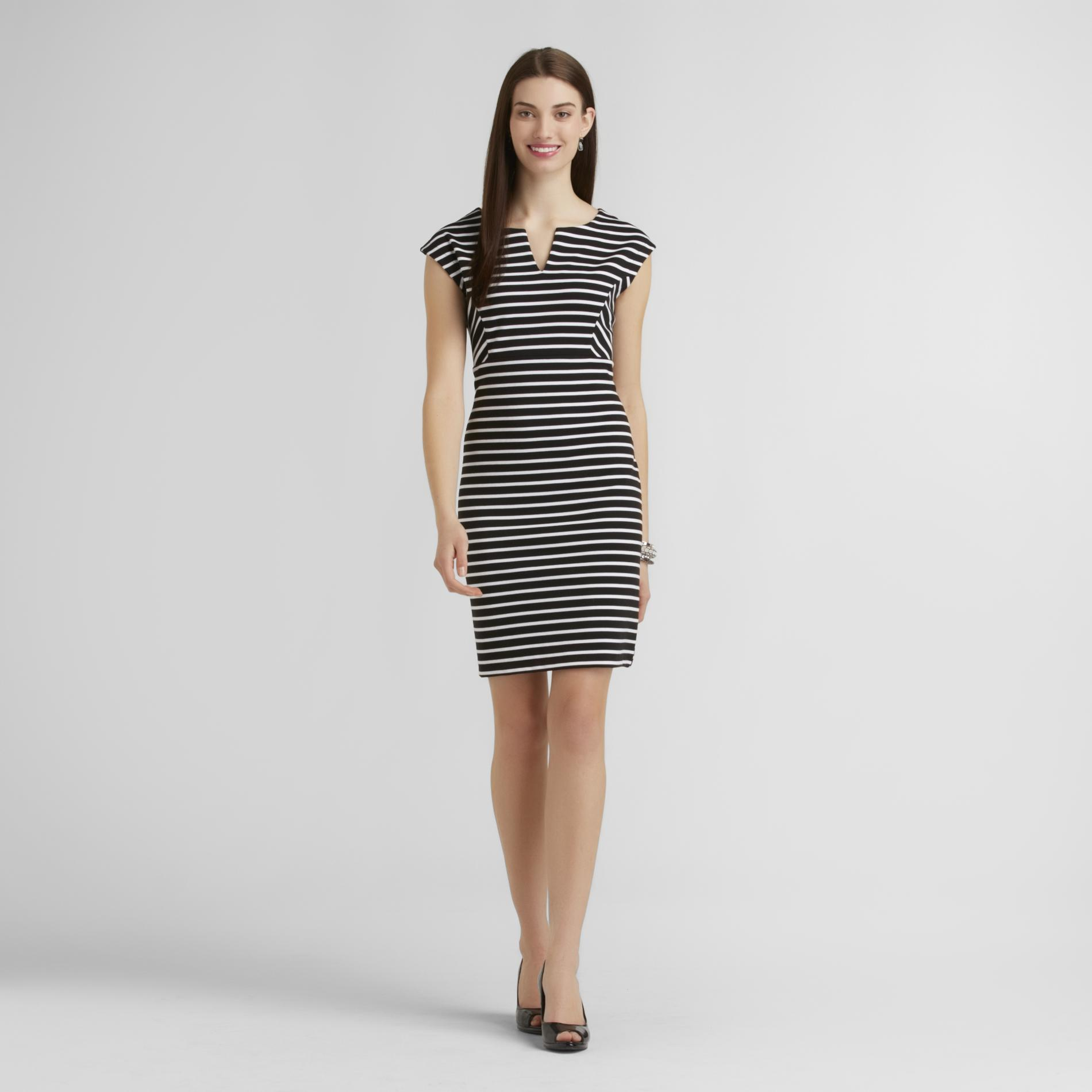 Attention Women's Sleeveless Ponte Dress - Striped at Kmart.com