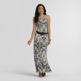 Attention Women's Belted Maxi Dress - Cleo Print at Kmart.com