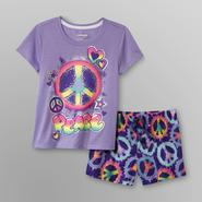 Joe Boxer Girl's Shorty Pajamas - Peace Sign at Kmart.com