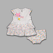 Small Wonders Infant & Toddler Girls' Jersey Lace Dress 2 Pc Set at Kmart.com