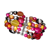 Jaclyn Smith Women's Four Row Cat-eye Beaded Bracelet at mygofer.com