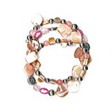Jaclyn Smith Three Strand Beaded Wrap Bracelet at mygofer.com