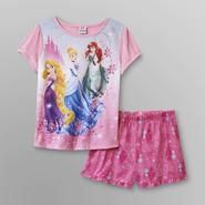 Disney Princess Girl's Pajama Shorts Set at Kmart.com