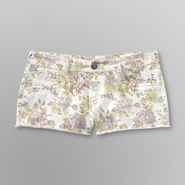 Bongo Junior's Frayed Jean Shorts - Floral Print at Sears.com