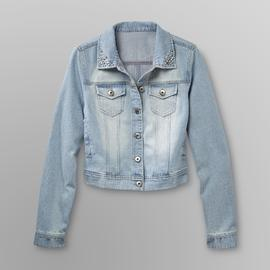 Bongo Junior's Denim Jacket - Rhinestone Collar at Sears.com