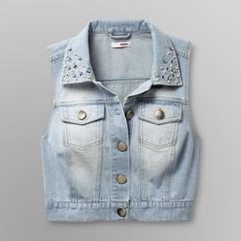 Bongo Junior's Denim Vest - Rhinestone Collar at Sears.com