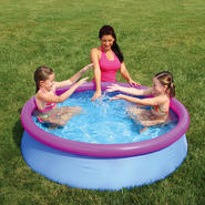 Summer Escapes 60 in. x 15 in. Quick Set Ring Pool Set - (Pink Ring) at Kmart.com