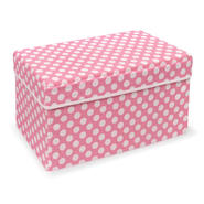 Badger Basket Pink Polka Dot Double Folding Storage Seat at Kmart.com