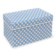 Badger Basket Blue Polka Dot Double Folding Storage Seat at Kmart.com