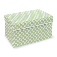 Badger Basket Sage Polka Dot Double Folding Storage Seat at Kmart.com
