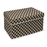 Badger Basket Brown Polka Dot Double Folding Storage Seat at Kmart.com