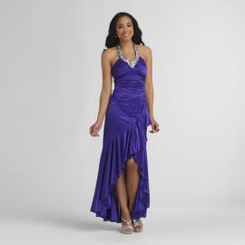 City Triangles Junior's High-Low Prom Dress - Halter Neck at Sears.com