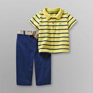 Small Wonders Infant Boy's Polo Shirt & Pants - Striped/Frog at Kmart.com