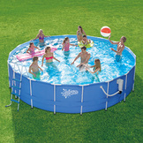 Summer Escapes 18ft x 48in Metal Frame Pool Set at mygofer.com