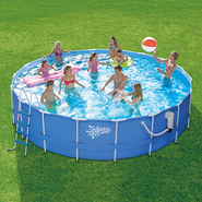 Summer Escapes 14 ft. x 42 in. Metal Frame Pool Set at Kmart.com
