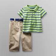 Small Wonders Infant Boy's Polo Shirt & Pants - Striped/Elephant at Kmart.com