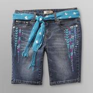 Route 66 Girl's Belted Bermuda Denim Shorts at Kmart.com