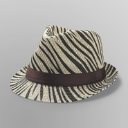 Bongo Junior's Faux Straw Fedora - Zebra Print at Kmart.com