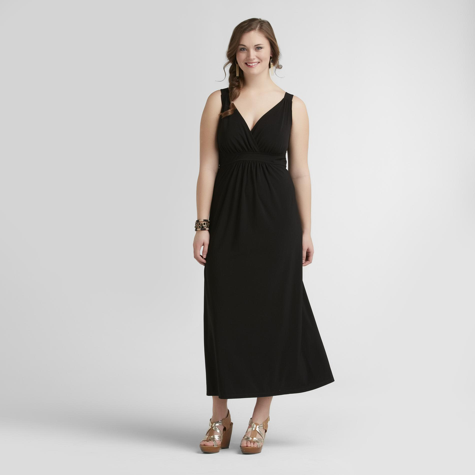 Jaclyn Smith Women's Plus Maxi Dress