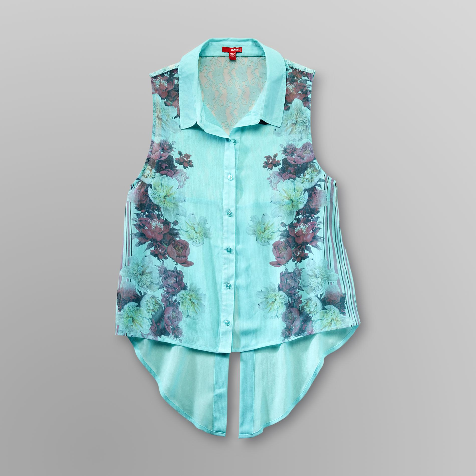 Bongo Junior's Chiffon Drop-Tail Blouse