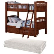 Walnut Twin Bunk Bed Bundle at Kmart.com