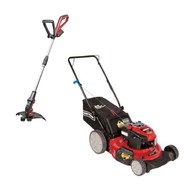 Craftsman 190cc Push Mower with Cordless Line Trimmer...
