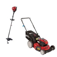 Craftsman 190cc Push Mower with Gas Trimmer Bundle   ...